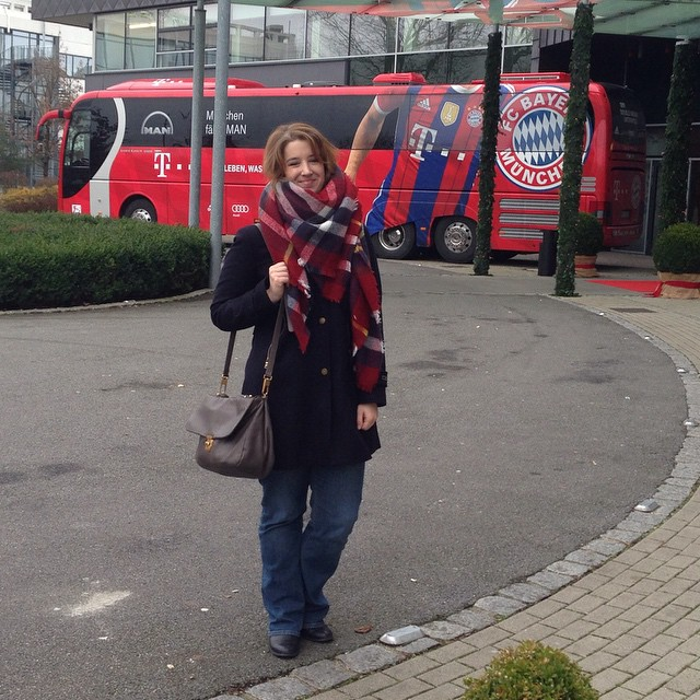 You know, just the usual hanging out with my boys from #FCBayern