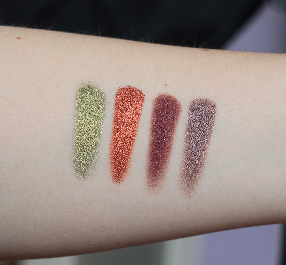 Makeup Geek Foiled Lidschatten Swatches