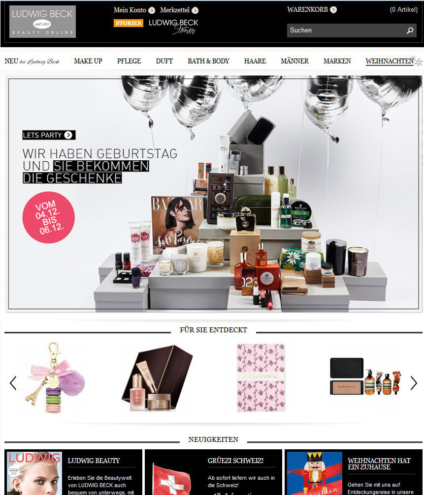 ludwig beck onlineshop geschenke zum 3 geburtstag cream 39 s beauty blog. Black Bedroom Furniture Sets. Home Design Ideas