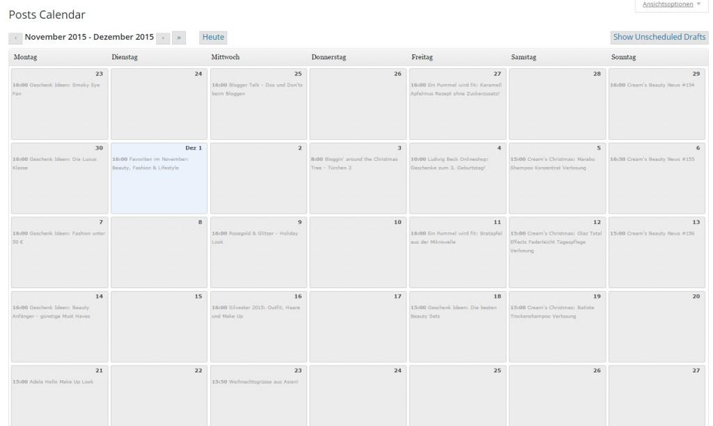 Wordpress Kalender