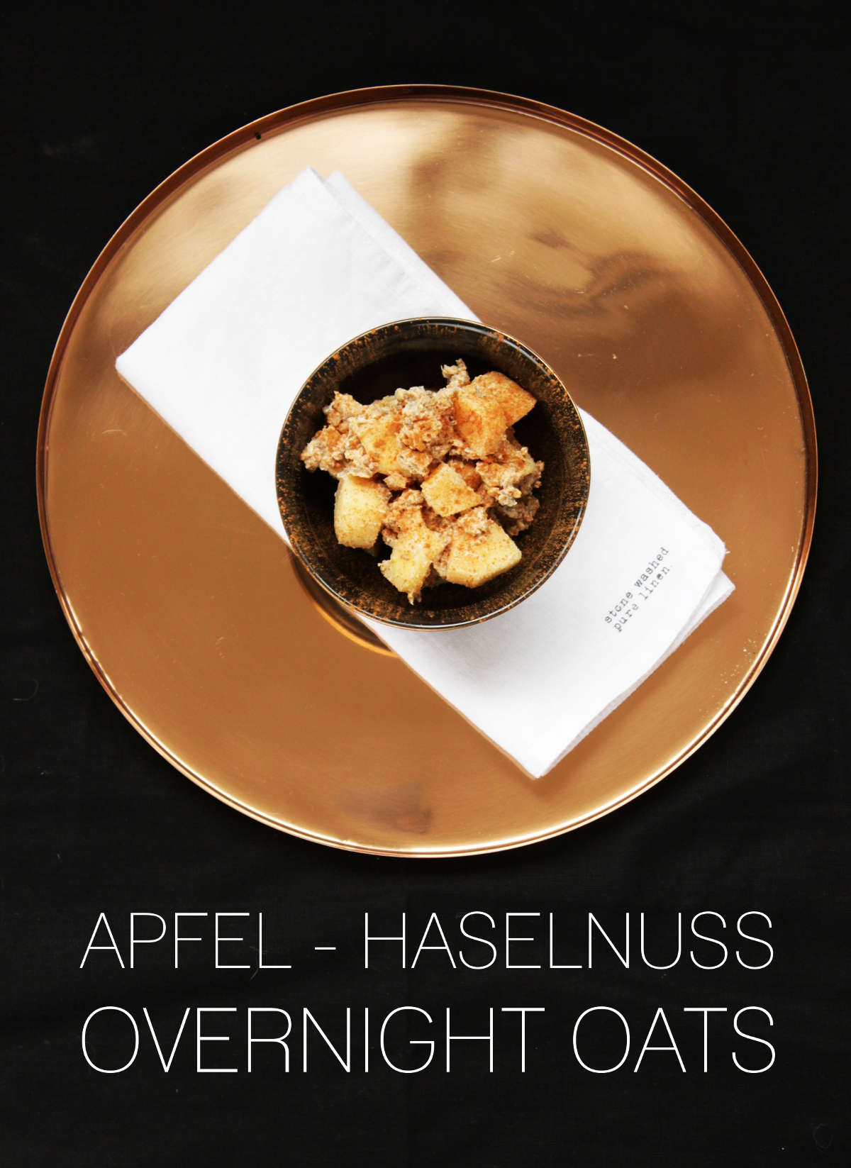 Apfel Haselnuss Overnight Oats