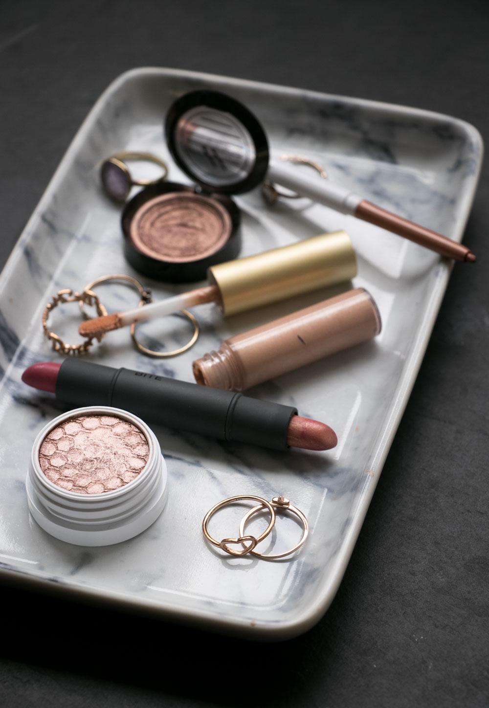 rosegoldene Beauty Produkte