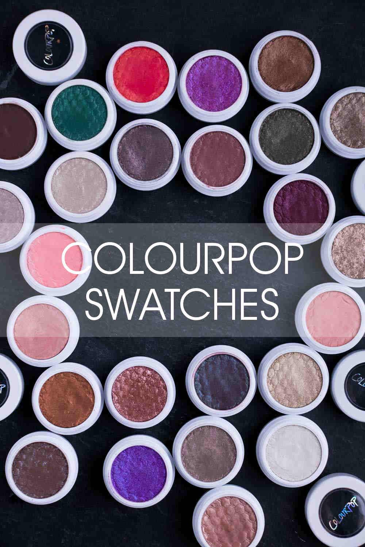 ColourPop Lidschatten Swatches