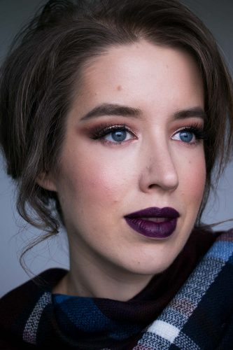 Make Up Look Rosegold Violett