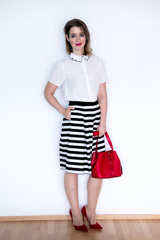 Modetrend Frühling 2018 Streifenrock