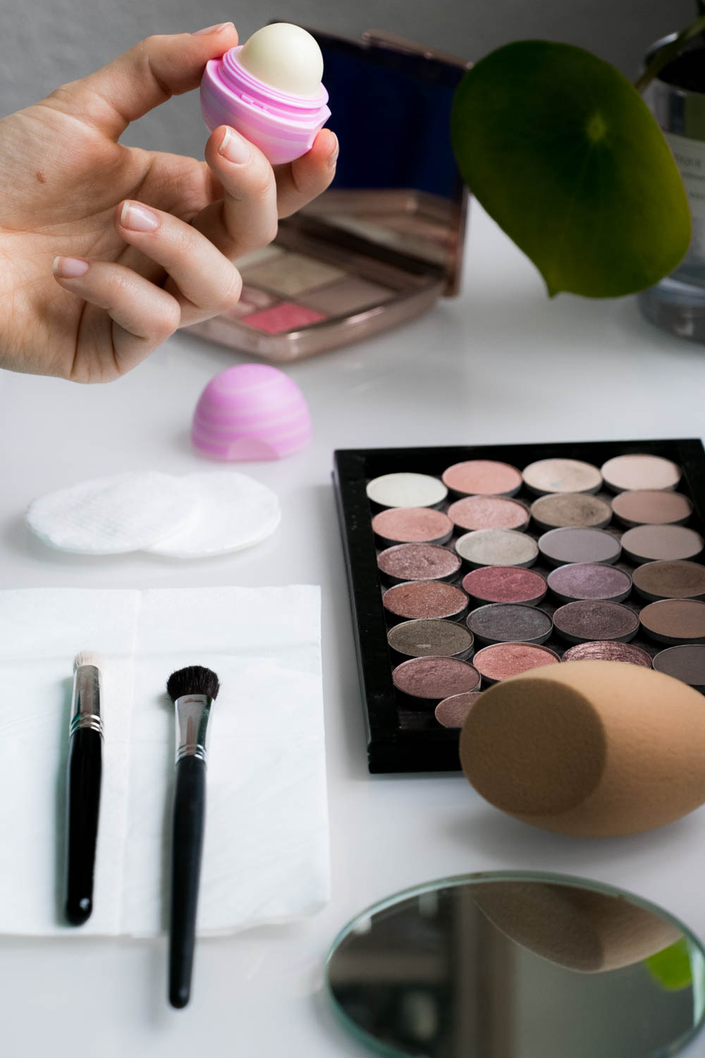 Make Up Vorbereitung eos