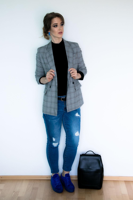 Städtereise Outfit Glencheck Blazer
