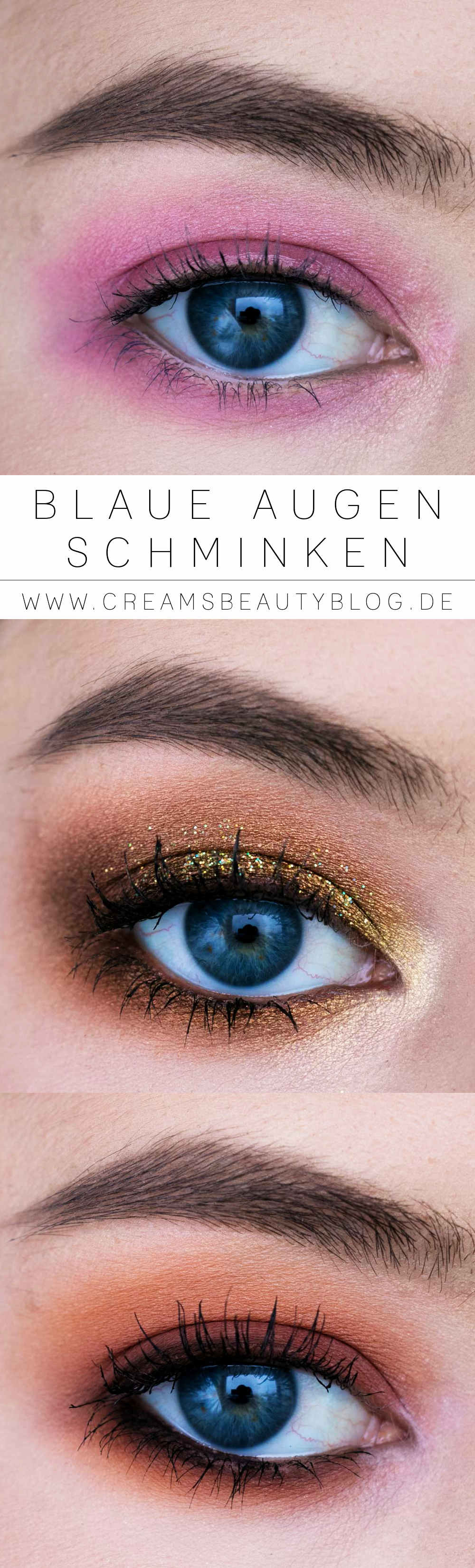 Blaue Augen Schminken Das Make Up Tutorial Creams Beauty Blog