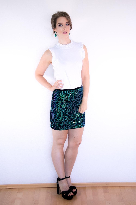 Outfit Glitzernder Smaragd