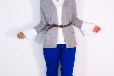 Outfit: Büro à la Carina (mit ETERNA Cardigan)