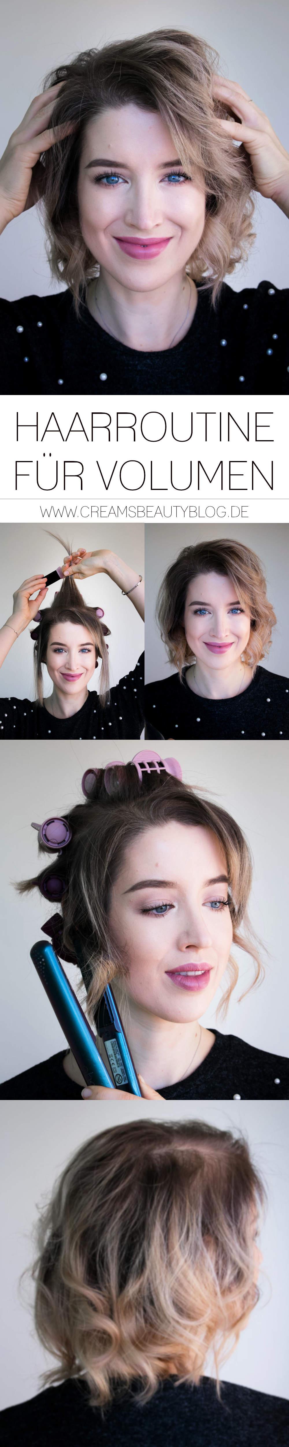Haarroutine für Volumen