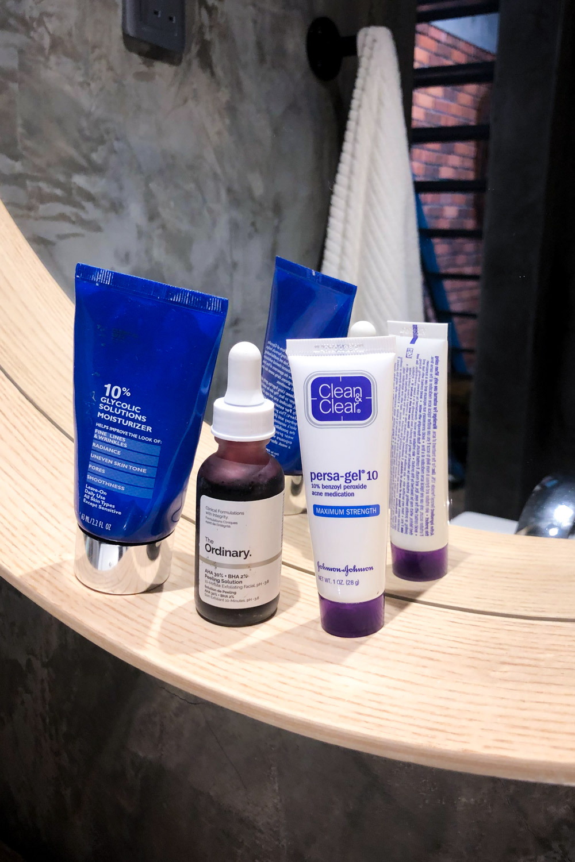 Hautpflege Säurepeelings