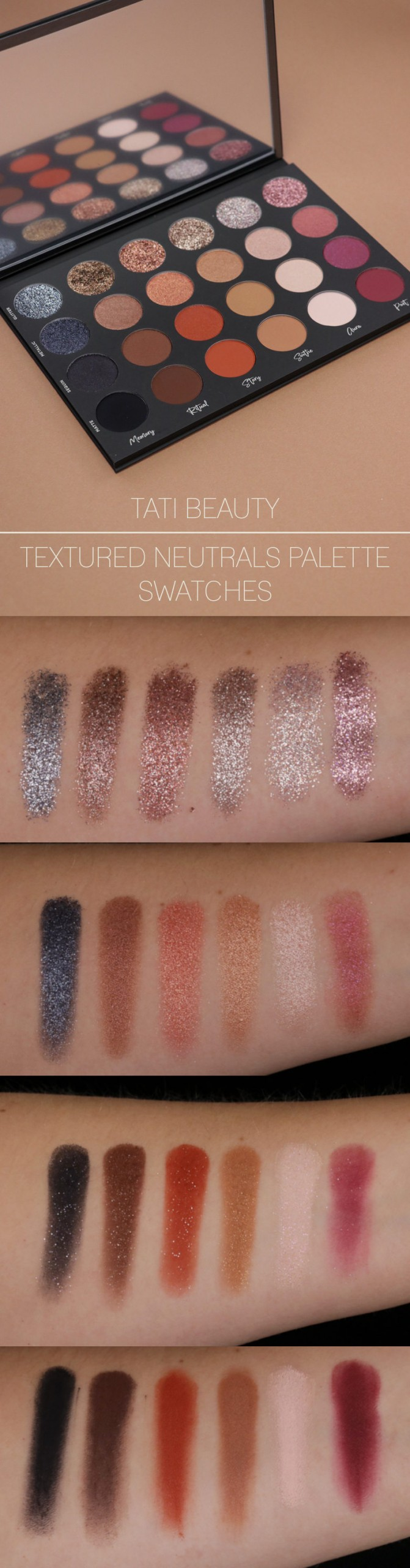 Tati Beauty Textured Neutrals Swatches