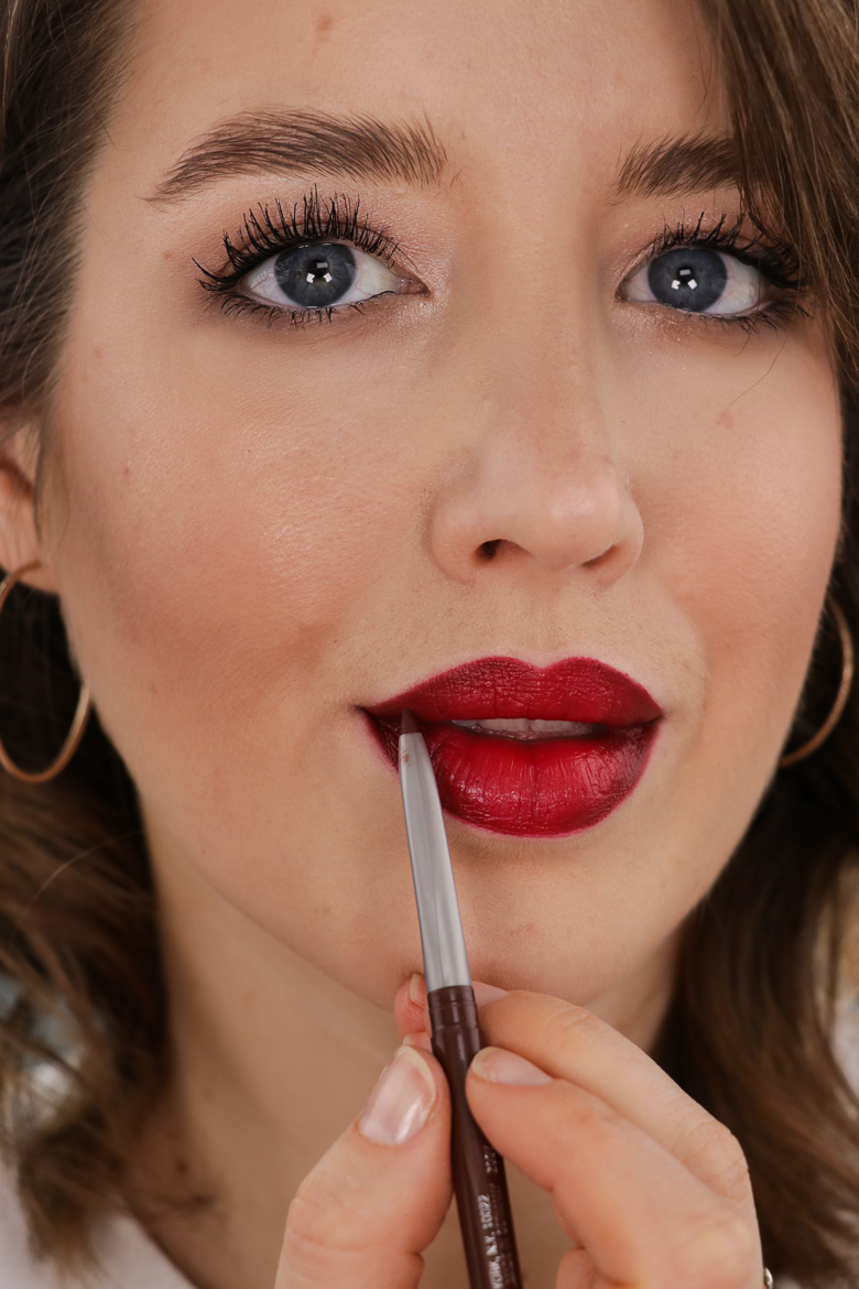 roter Lippenstift Make-up Looks