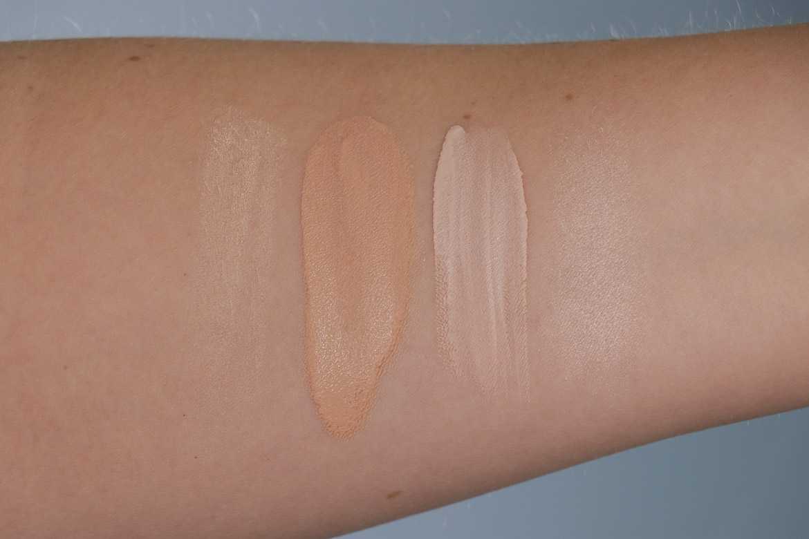 Kiko Milano Radiant Fusion Baked Powder 01 Ivory | Unlimited Foundation Neutral 10 | Skin Tone Concealer 02 Ivory | Highlighter in 01 Brilliant Champagne