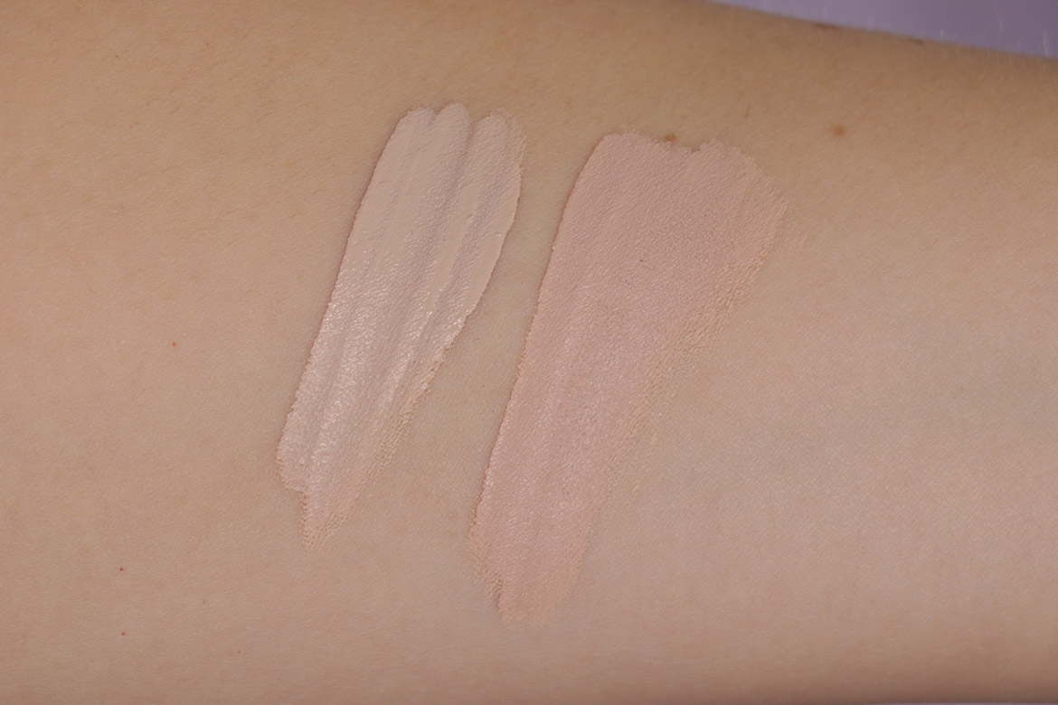 Swatches: MAKEUP REVOLUTION Conceal & Define Concealer C2 & C3