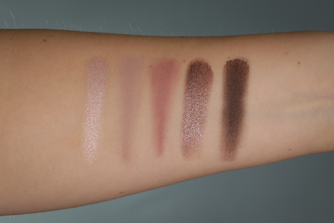 CATRICE 5 IN A BOX MINI EYESHADOW PALETTE 020 Soft Rose Look Swatches