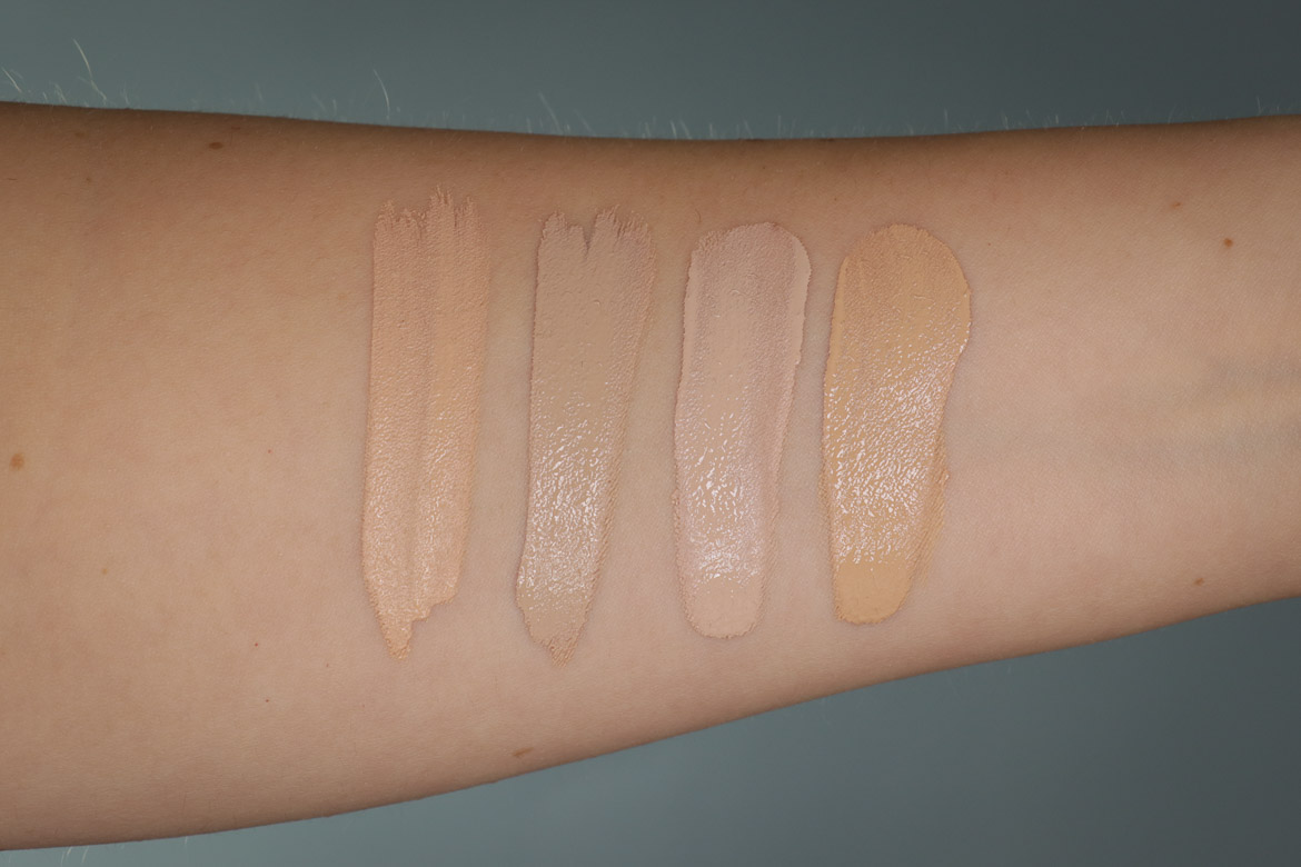 Catrice Swatches High Cover Concealer in 005 Warm Macadamia & 010 Cool Cashmere | True Skin Hydrating Foundation in 007 Cool Nude & 015 Warm Vanilla
