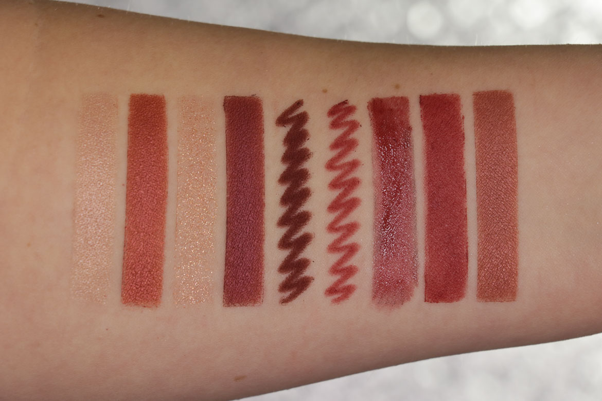 Charlotte Tilbury Walk Of No Shame Swatches