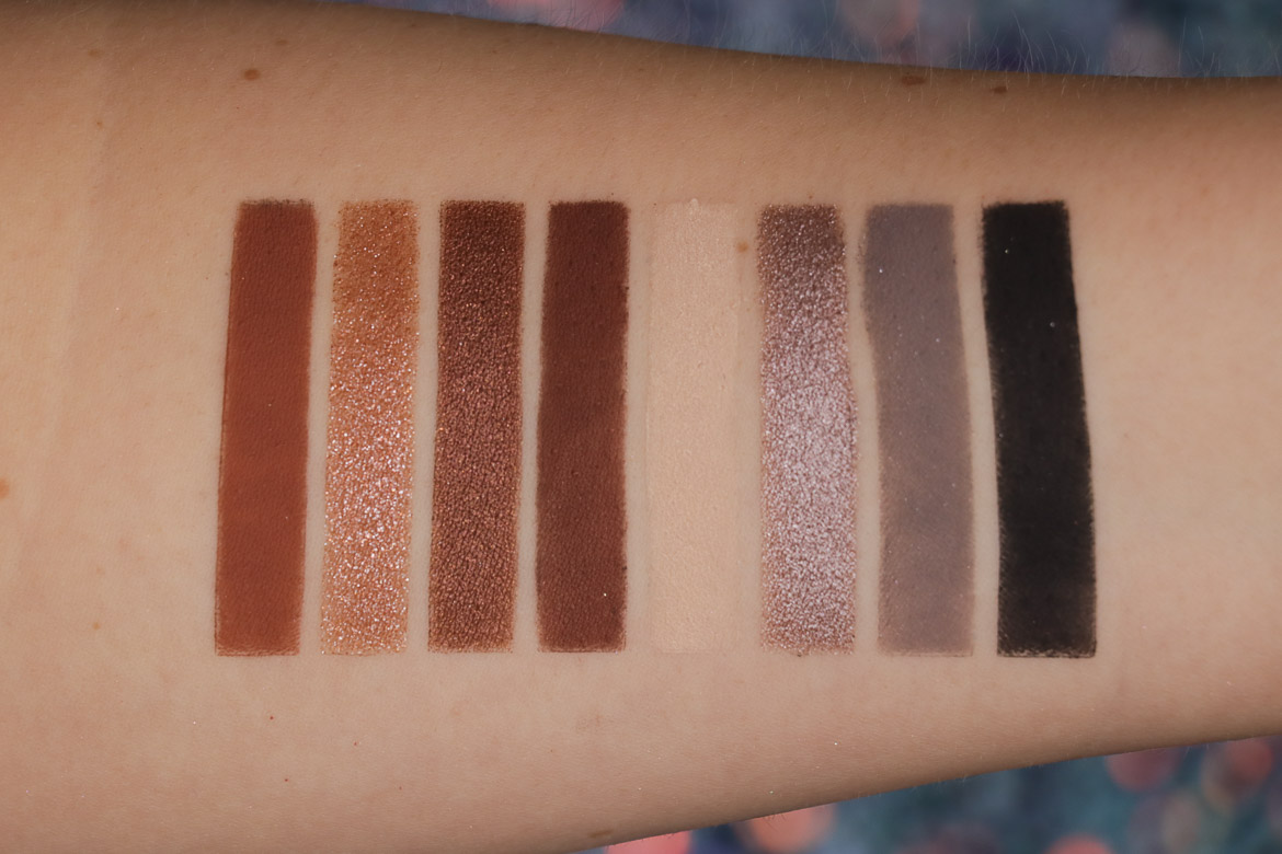 NABLA side by side palette swatches