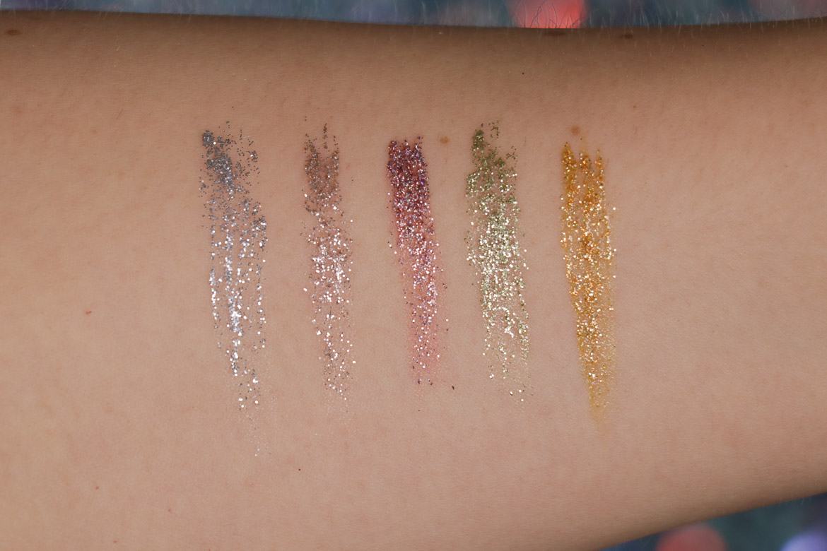 NYX Professional Makeup Glitter Goals Liner Swatches