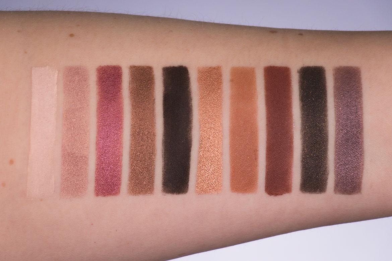 Zoeva Cosmetics Cocoa Blend Lidschattenpalette Swatches