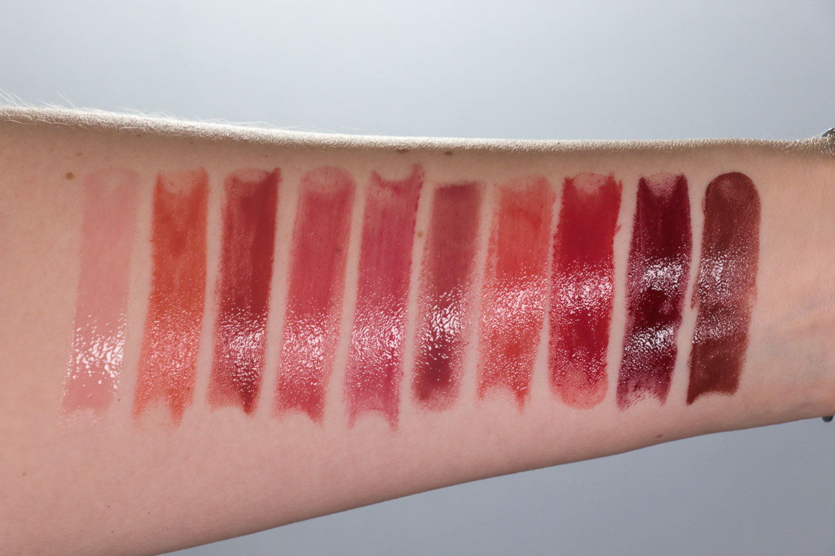 Charlotte Tilbury Hyaluronic Happikiss Swatches