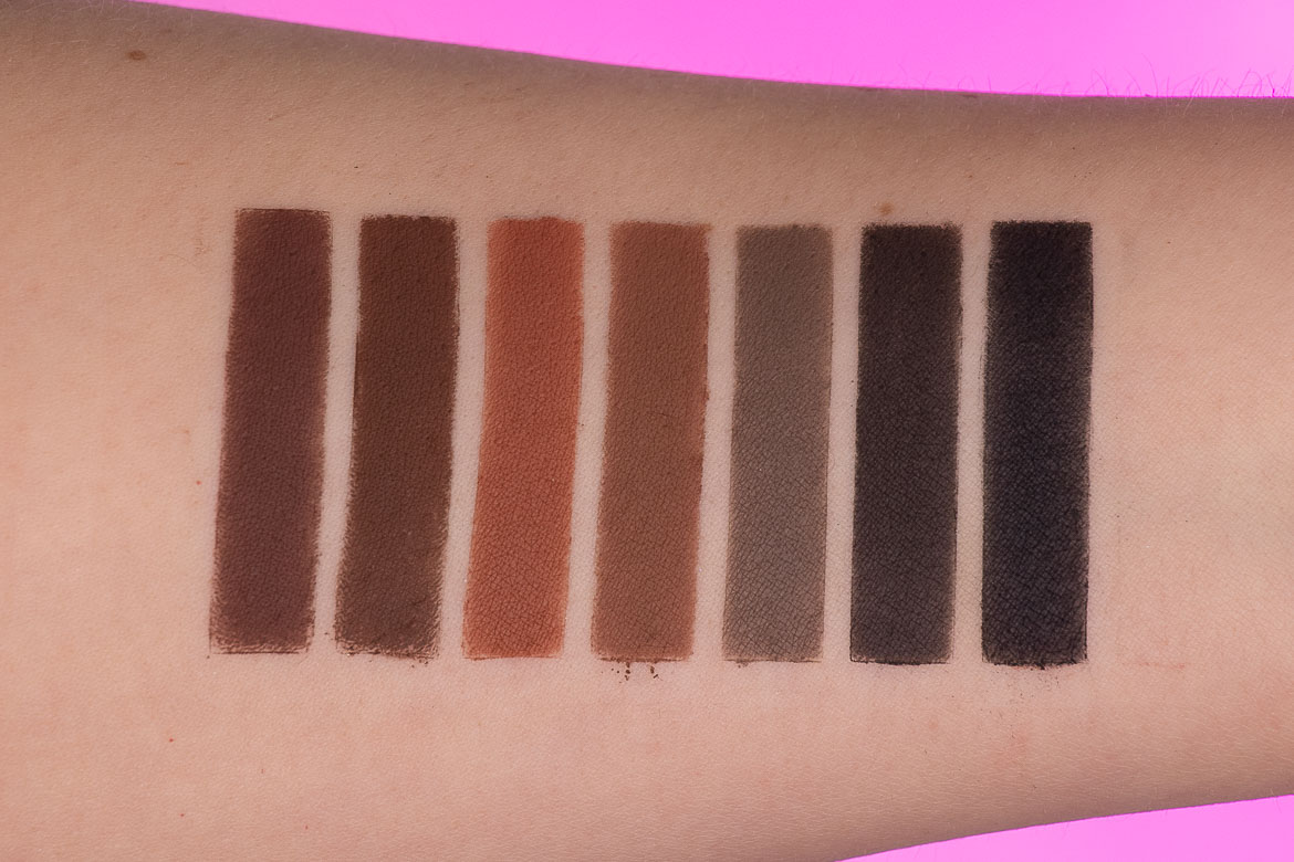 Swatches DOMINIQUE COSMETICS Transition Lidschattenpalette: