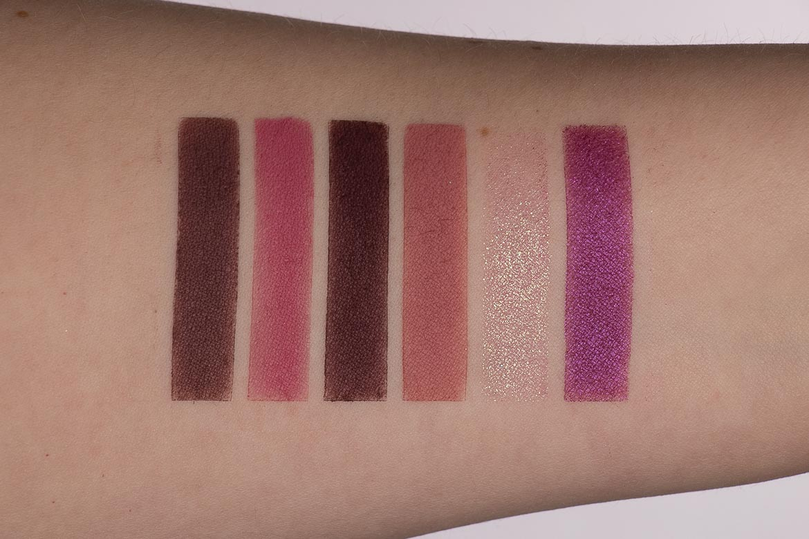 Swatches Juvia's Place The Mauves Palette
