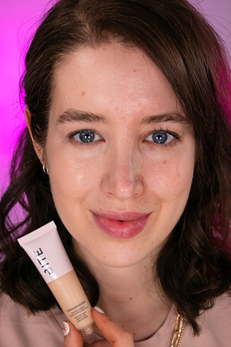 BITE BEAUTY Changemaker Supercharged Micellar Foundation Before After