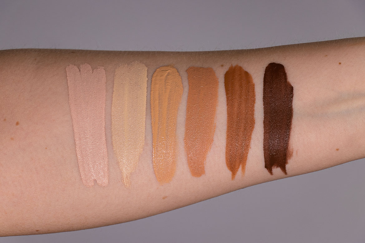 RARE BEAUTY Liquid Touch Weightless Foundation Swatches 160C - 170W - 250W - 340C - 450N - 540N