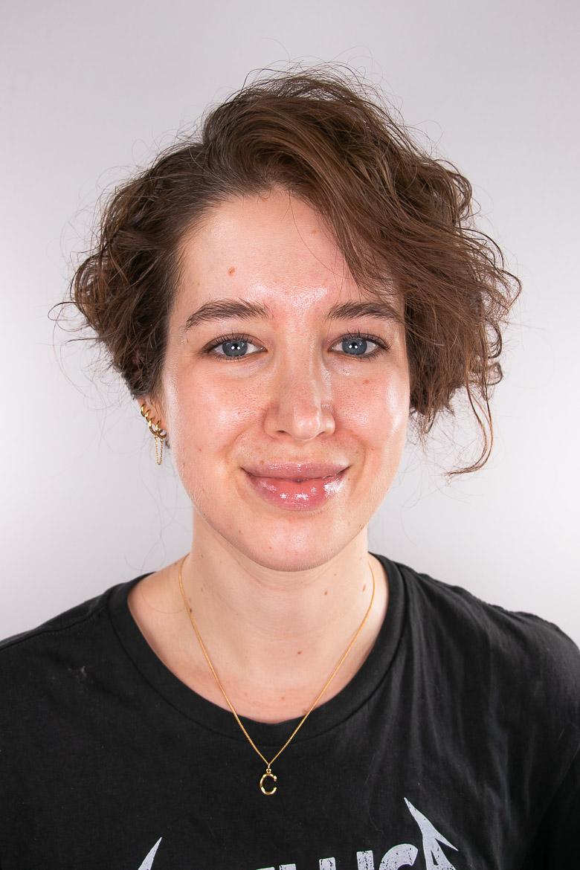 Nude Make-up ungeschminkt vorher