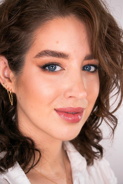 Nahaufnahme Nude Make-up