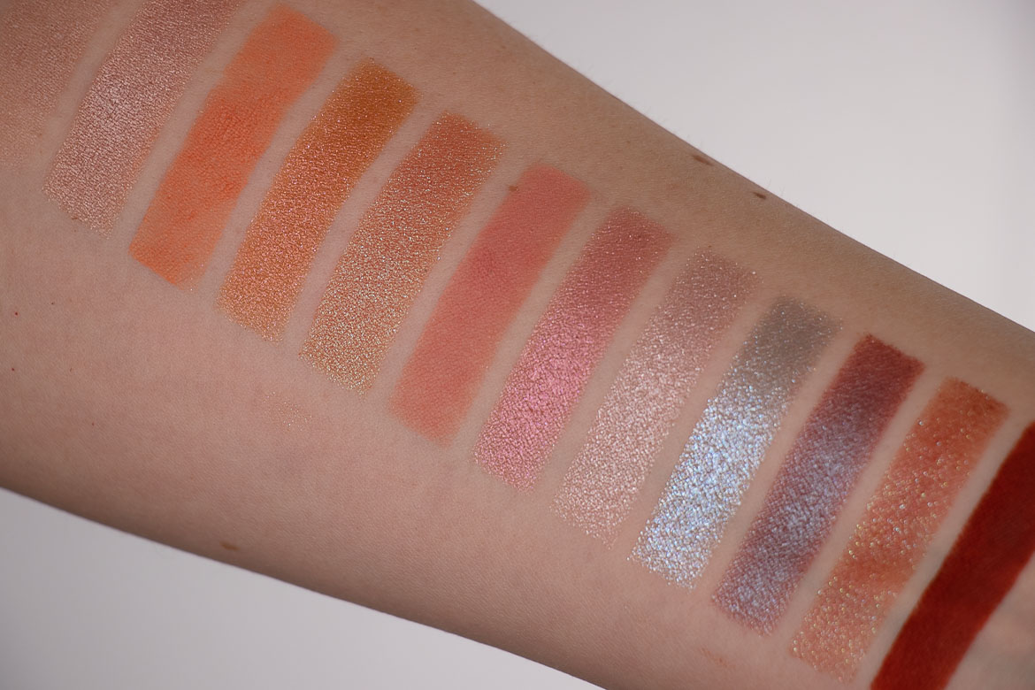 Urban Decay Naked Cyber Palette Swatches